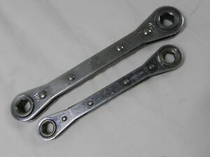 Mac Tool 2 Piece 6 Point Combination Double Box Ratcheting Wrench Set