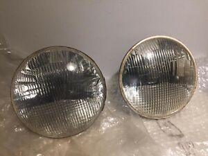 Carello Front Headlights Pair 03 244 800 Fiat Alfa Lancia Fulvia Used Vintage