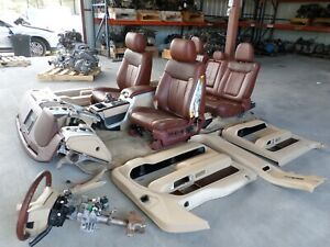 2012 2013 2014 Ford F 150 King Ranch Front Seat Rear Set W Console Dash Oem