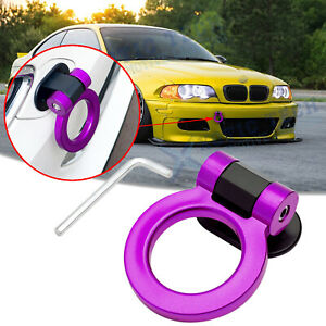 Purple Jdm Sporty Racing Style Track Dummy Tow Hook Decor Ring For Bmw 3 series