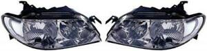 Side Pair Fits 2002 2003 Mazda Protege5 Front Headlight Assembly Replacement
