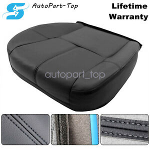 For 2007 13 Chevy Silverado 1500 2500 Hd Driver Bottom Leather Seat Cover Black