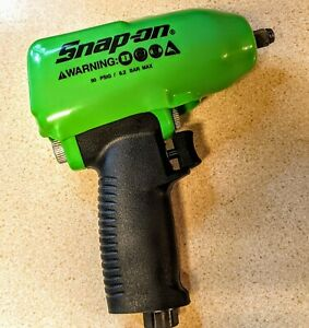 New Snap on 3 8 Drive Green Super Duty Air Impact Wrench W boot Muffler Mg325