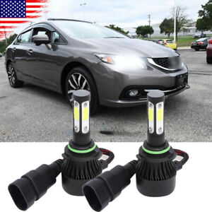 For Honda Civic 2006 2012 2013 2014 2015 Led Headlight Low Beam Bulbs 9006 Hb4