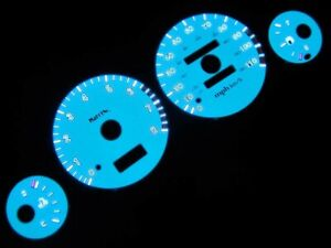1993 1997 Toyota Corolla With Tachometer Indiglo White Face Glow Gauges Kit
