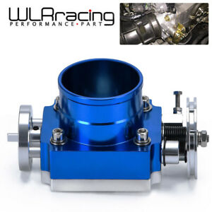 Universal 70mm 2 75 High Flow Intake Aluminum Manifold Billet Throttle Body Bl