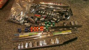 New Mixed Lot Of 121 Sockets Extensions No Guarantee Brand Or Size