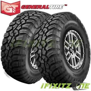 2 General Grabber X3 Lt295 65r20 129 126q 10 Ply E Off Road Jeep Truck Mud Tires