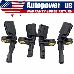 Set 4 Abs Wheel Speed Sensor Front Rear Left Right Fits For Audi Volkswagen