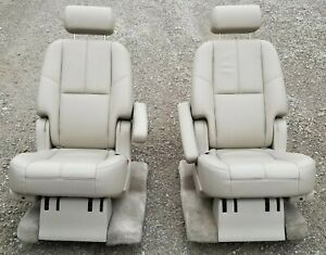 07 11 Chevy Tahoe Suburban Cadillac Escalade 2nd Row Seat Set Cashmere Leather