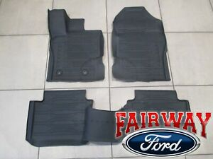 20 22 Ranger Oem Ford Tray Style Molded Rubber Floor Mat Set 4 Pc Extended Cab