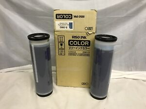 Box Of 2 Genuine Riso Risograph Soyink S 3982 Federal Blue Rp Gr New Fresh