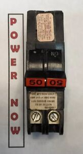 Federal Pacific Fpe Stab lok Breaker 2 Pole 50 Amp 240v Thin Ships Today