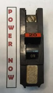 Federal Pacific Fpe Stab lok Breaker 1 Pole 20 Amp 120v Thick Ships Today