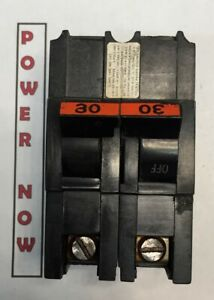 Federal Pacific Fpe Stab lok Breaker 2 Pole 30 Amp 240v Thick Ships Today