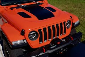 Blackout Center Hood Decal For Jeep Wrangler Rubicon Jl 2018