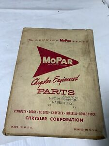 1954 1960 Nos Plymouth Dodge Chrysler Desoto Flat Gasket Seal Package
