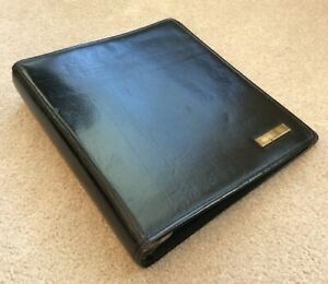 Day timer Monarch folio Blk Western Coach Leather Planner Binder Franklin Covey
