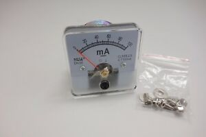 1pc Dc 0 100ma Analog Ammeter Panel Amp Current Meter 50 50mm Direct Connect