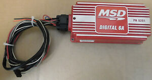Msd 6201 6a Digital Cd Ignition Box No Rpm Limiter W wire Hardness