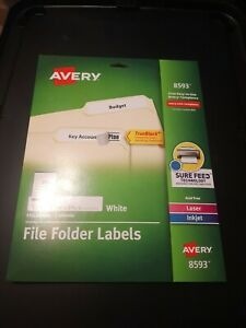 Avery File Folder Labels 2 3 X 3 7 16 150 Labels 8593 Brand New