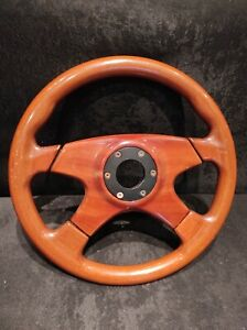 Selm Steering Wheel Wood 4 Spokes Vintage Very Good Condition