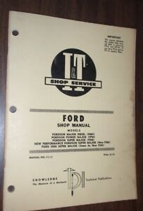 I t Shop Manual Fordson Major Diesel Power Major Super Ford 5000 Super Maj