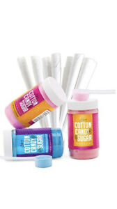 The Candery Cotton Candy Floss Sugar 3 pack Includes 50 Premium Cones