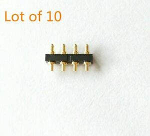 10pcs 6mm Long 4pin Head Spring Loaded Signal Test Probes Pogo Pins Connector