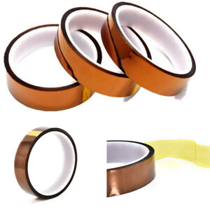 30m Kapton Tape Adhesive High Temperature Heat Resistant Polyimide 20mm X 100ft