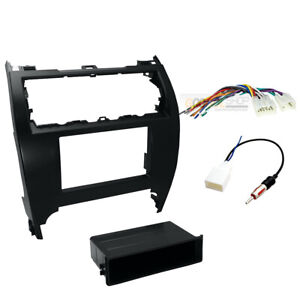 Single Double Din Car Radio Stereo Install Dash Kit For 2012 2014 Toyota Camry