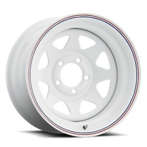 Cragar 310 Nomad 15x6 5x120 65 Offset 0 White W red And Blue Stripes qty Of 1
