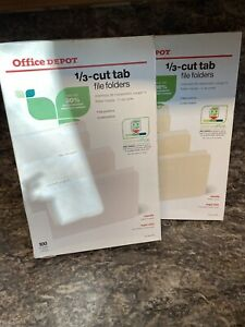 Office Depot Brand File Folders 1 3 Cut Legal Size Manila 200