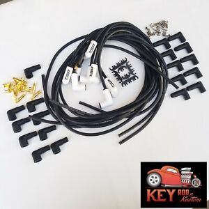 Ceramic Extreme Heat Spark Plug Wires Spiral 8 5mm 90 Degree Ends Chevy Ford