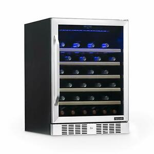 Newair Awr 520sb 52 Bottle Capacity Built in Wine Cooler And Refrigerator