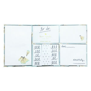 Kate Spade Sticky Notes Box Set 7 Memo Pads Page Flags Designer Fashion