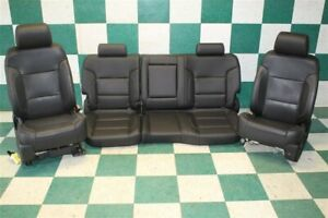 Track 14 18 Gm Truck Crew Black Dual Power Heat Cooled Buckets Leather Backseat