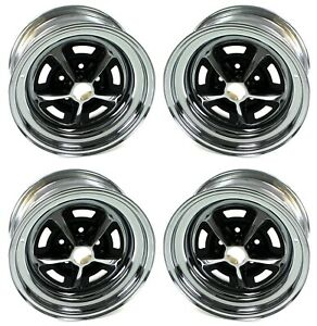 Mustang Wheels Set Of 4 Magnum 500 5 Lug 15x8 1964 1973 Wheel Vintiques