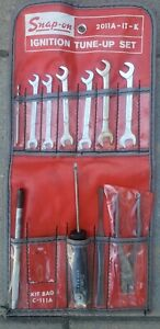 Vtg Set Of 11 Snap On Tools Angle Head Wrench Set See Pics