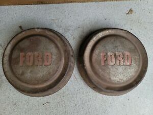 1957 58 59 60 Ford F100 Truck Pickup Dog Dish Wheel Covers Hubcaps