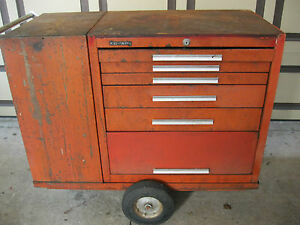 Kennedy Versa Cart Red Model 206vc 2 Cabinet And Cart Taco Wagon Tool Box