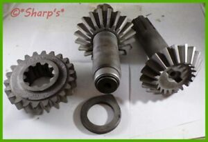 F256r F248r John Deere G Pto Pinion Bevel Gear With Shaft F1516r Matched Set