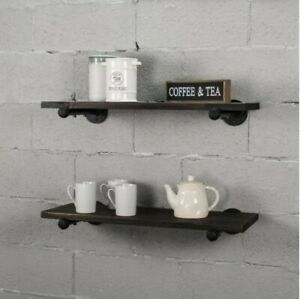 Industrial Shelf Brackets For 10 Inch Shelves set Of 2