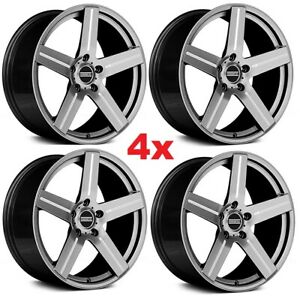 20 Silver Gray Wheels Rims Concave Staggered Camaro 2010 2011 2012 2013 2014