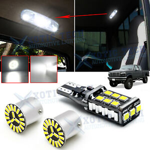 White Led Interior Map Dome Light Bulbs Kit 3x For Ford F150 F250 F350 1989 1996