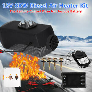 12v 8kw Diesel Air Heater Lcd Thermostat Quiet W Remote Control Car Boat Truck