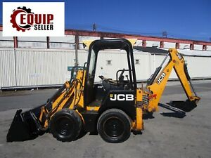2011 Jcb Icx Diesel Backhoe Skid Steer Loader Mini Excavator 4x4 4in1 Bucket