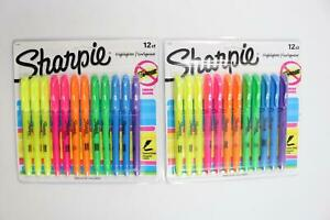 24 Ct Sharpie Highlighters Narrow Chisel Fluorescent Markers School Office