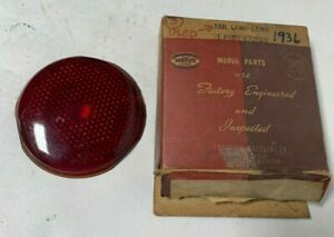 1936 Original New Old Stock Plymouth Dodge Desoto Tail Light Lamp Lens 672620