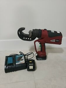 Burndy Pat444s Hydraulic Battery Operated Crimper Dieless Crimping Tool